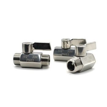 New Type High Quality 1/8 1/4 3/8 1/2 3/4 1 inch BSP Thread MINI Ball Valve Stainless Steel SS304 DN6 DN8 DN10 DN15 with handle цена 2017