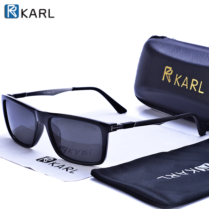 SUNGLASSES KING Sunglasses Polarized Men Luxury Brand Aluminum Square Frame Driving Sunglass 2020 New Black Fishing Glasses