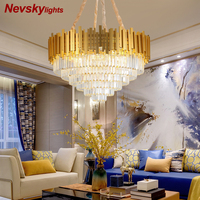 Modern minimalist chandeliers living room crystal chandelier lighting dining room ceiling lamp led fixtures gold lustre bedroom