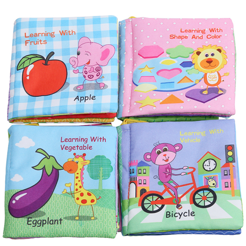 New Arrivel 0-36 Months Baby Toys Soft Cloth Books Rustle Sound Infant Educational Stroller Rattle Toy Newborn Baby Toys