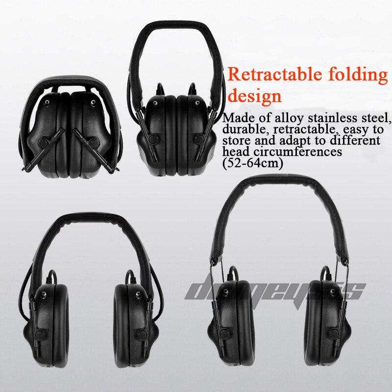 protetor auditivo earmuffs taticos uso com ptt 04