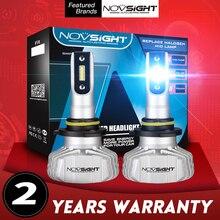 цена на NOVSIGHT H4 Hi/Lo Beam LED H7 Car Headlight LED H1 H3 H11 H13 HB3 HB4 9005 9006 9007 Auto Head Lamp Bulbs 50W 10000LM Fog Light