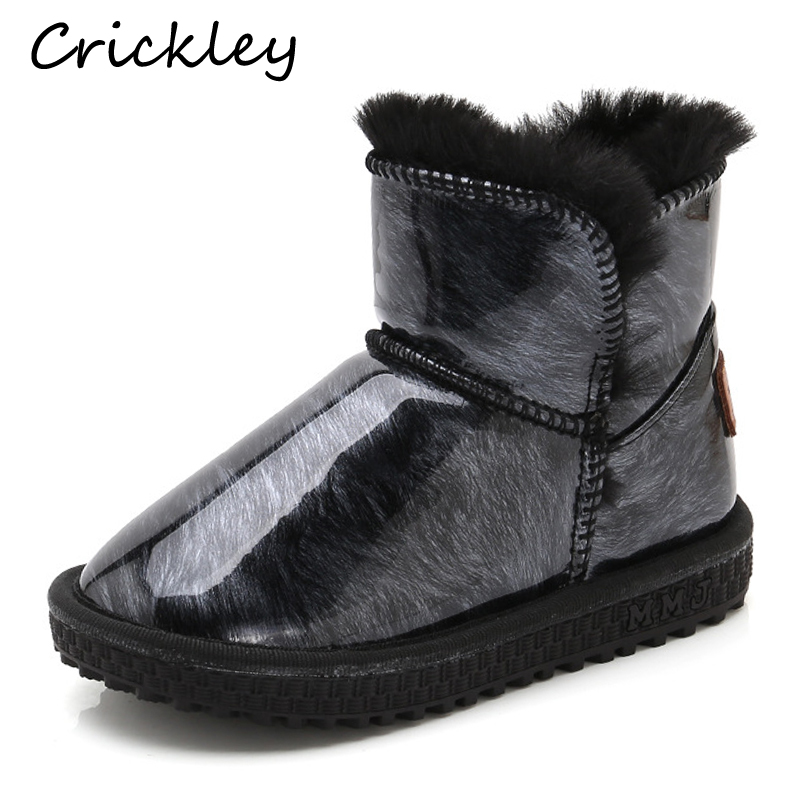 New Winter Toddler Boys Girls Warm   Boots Fashion Short Boots for Kids