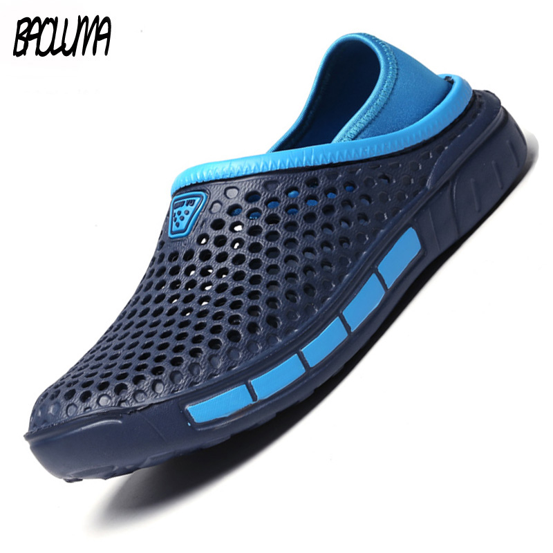 Fashion New Hot Sale Mens Sandals Summer Lovers Outdoor Water Shoes EVA Women Beach Sandals Simple Design Slip-on Mens Slippers