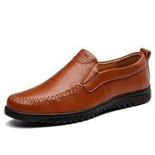 ผู้ชายสบายๆรองเท้า Loafer 2019 ออกแบบแบรนด์แบนรองเท้าผู้ชายขับรถรองเท้าหนังผู้ชาย SLIP  mens WARM Loafers