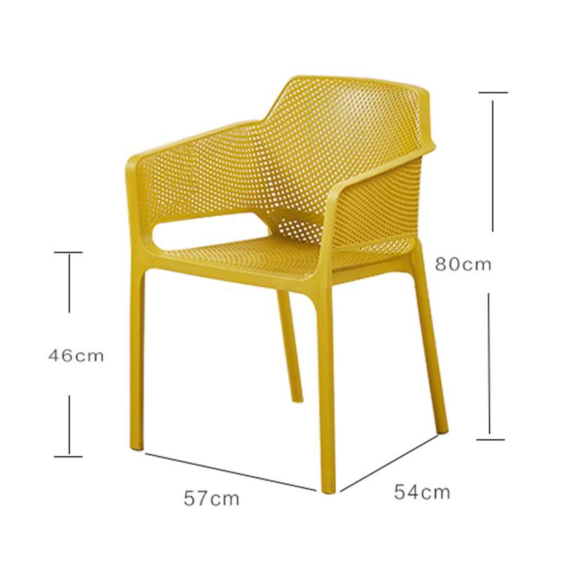 Nordic PP Plastic Restaurant Dining Room Chairs Comedores Modernos Muebles Lounge Chair Family Bedroom Learning Plastic Chair