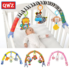 QWZ Baby Hanging Toys Stroller Bed Crib For Tots Cots Rattles Seat Plush Stroller Mobile Gifts animals Zebra Rattles Baby Toys