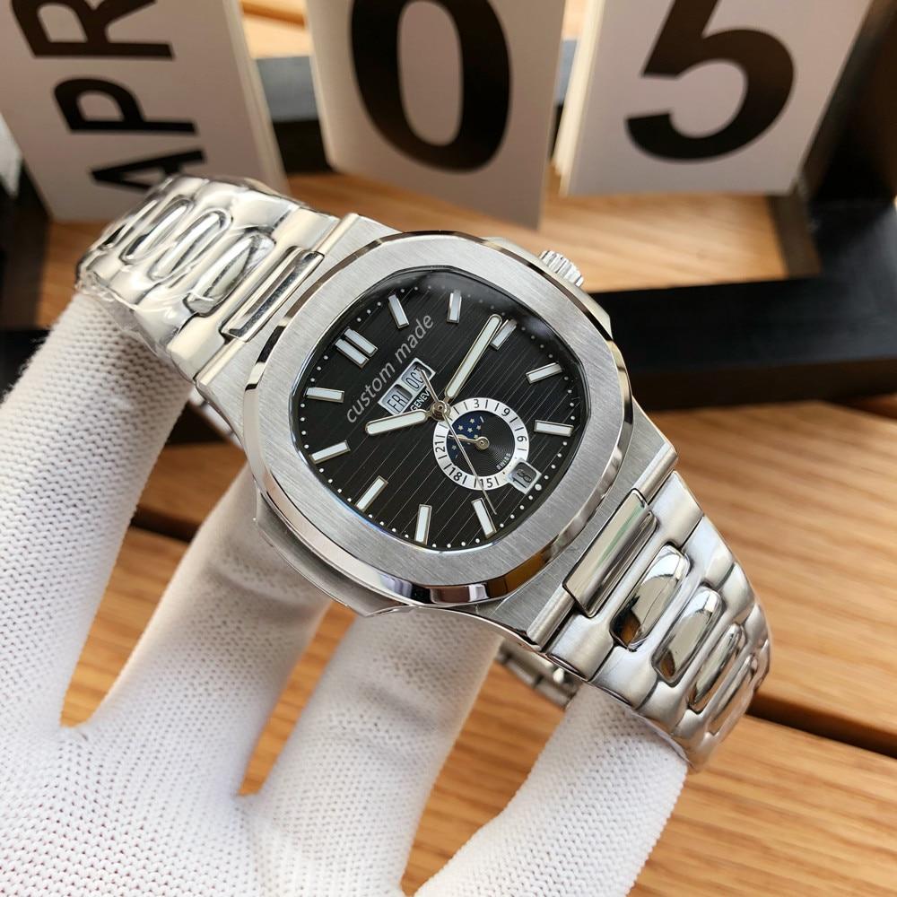 Men's Luxury Sports Automatic Mechanical Watch 904L steel sapphire glass Watch Retro Watch