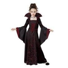 Costume dhalloween pour filles, sorcière effrayante, Costume Cosplay de vampires, vêtements de spectacle pour enfants, robes dhalloween pour fête