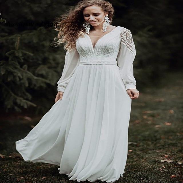 Simple Civil Boho Wedding Dress 4