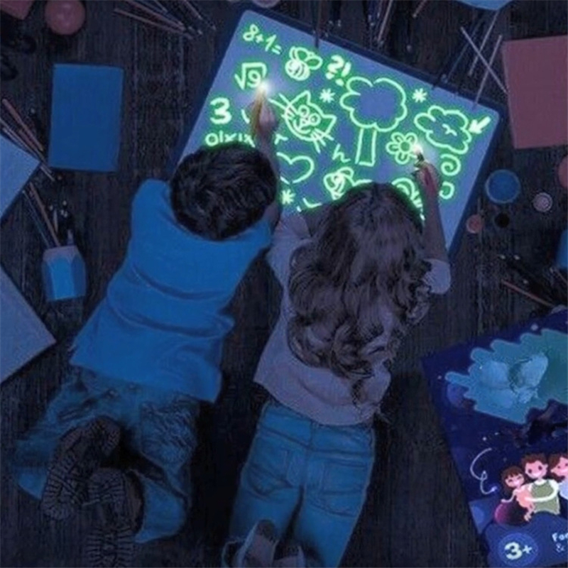 2019 Big Size Illuminate Drawing Board Light In Dark Children Kids Paint Toy DIY Educaitonal Boy Girl Toys