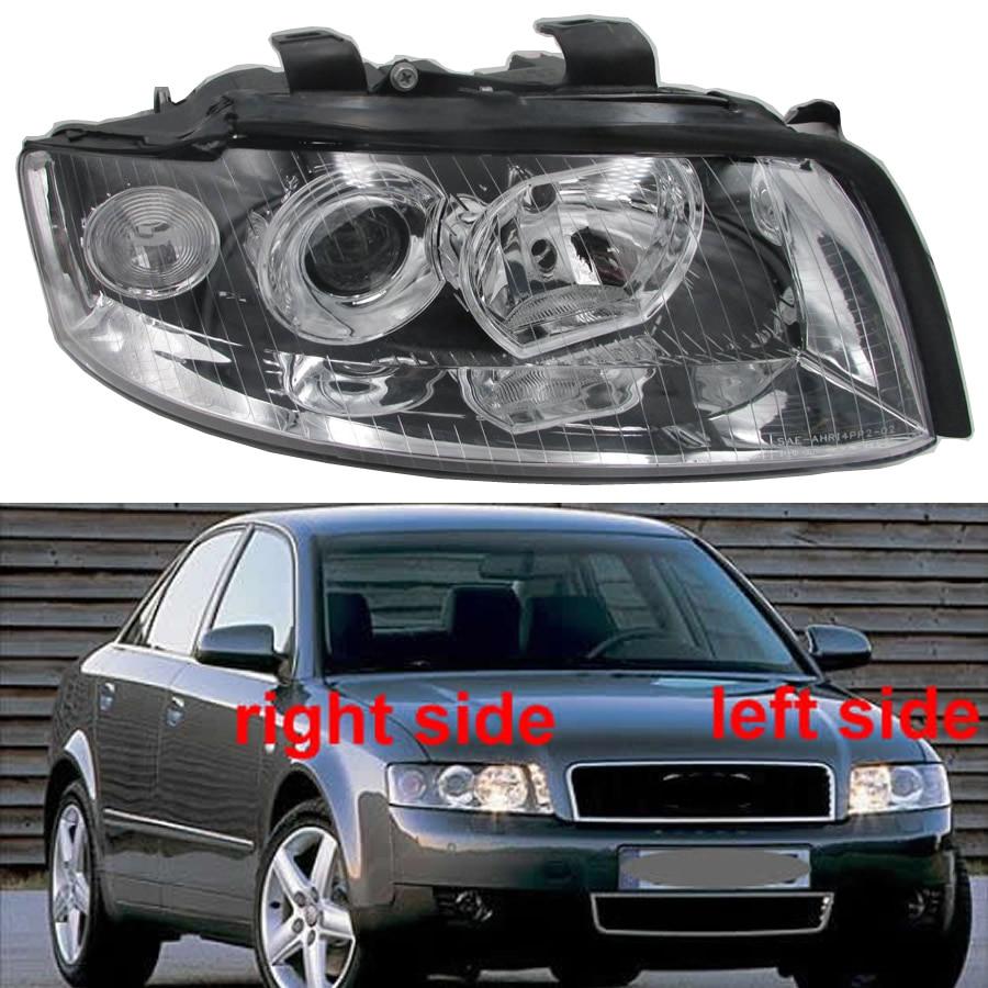 Halogen Half Headlights Assembly For Audi A4 B6 2001 2002 2003 2004 2005 Headlamp Assembly