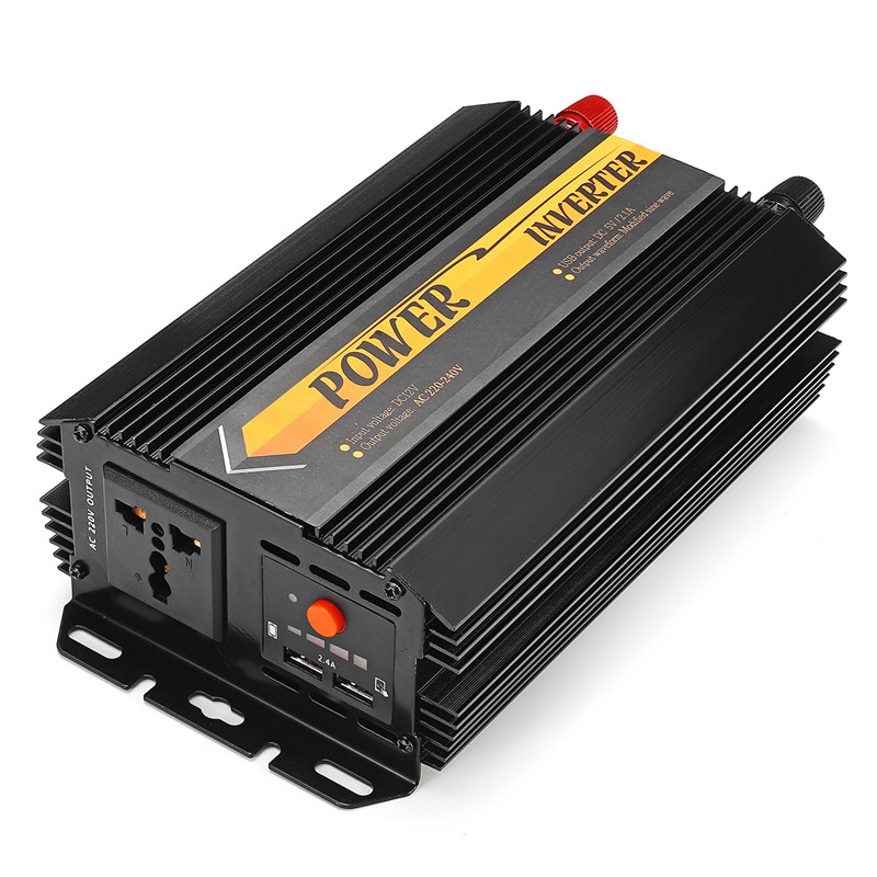 Dual USB Max 6000 Watts 3000W Power Inverter DC 12 V to AC 220 Volt Car Adapter Charge Converter Modified Sine Wave Transformer 26