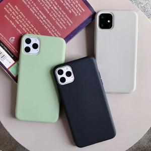 Image 3 - Cho iPhone 11 12 Pro Max 6 6S 7 8 Plus X Xs Max Bao Da Sang Trọng Ban Đầu Mềm Mại ốp Lưng TPU Không Logo Lớp Vỏ Lắp Trường Hợp