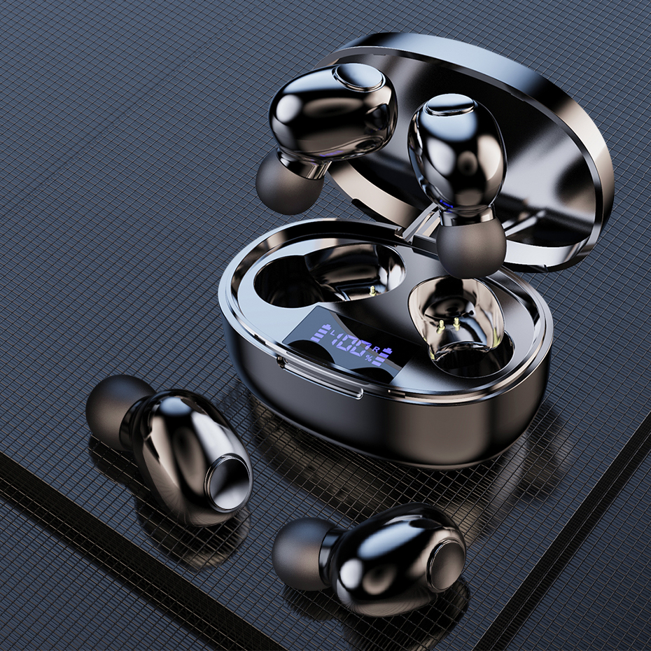 TWS Беспроводная Bluetooth гарнитура 5,1, одна пара мини наушников с Hi Fi стереомикрофоном, гарнитура, наушники с зарядным боксом 2200 мАч|Наушники и гарнитуры|   | АлиЭкспресс