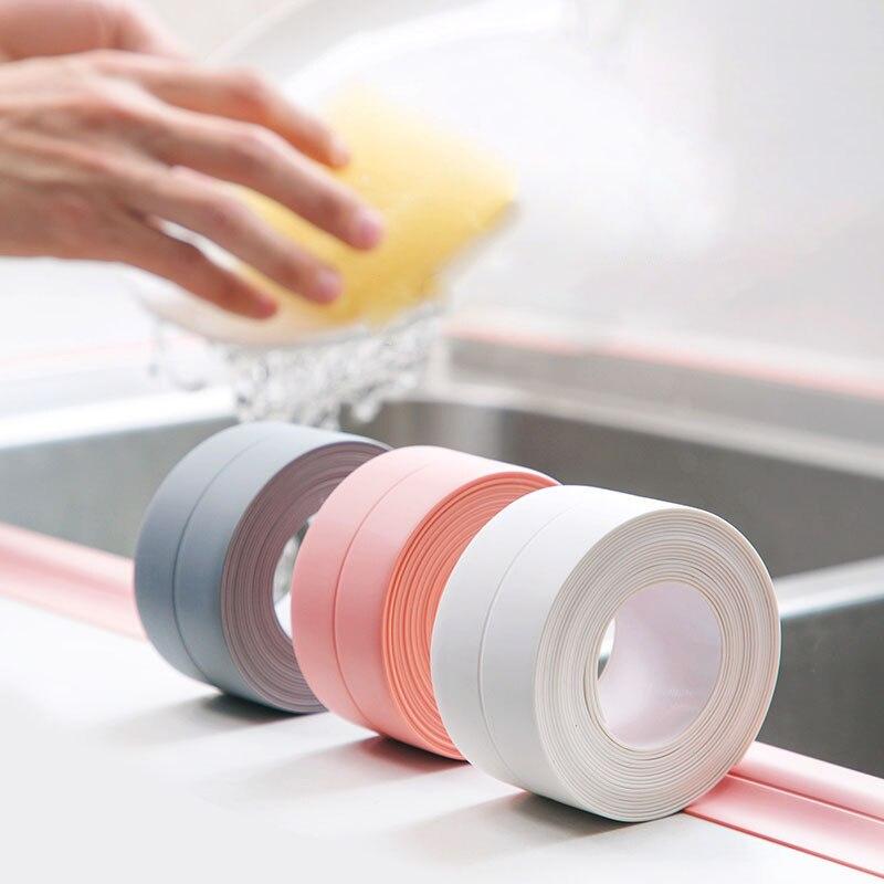 Nano Tape Kitchen Stickers Oil-proof Waterproof Tape Countertops Self-adhesive Bathroom Pool Seam Home Improvement Fita Adesiva 4