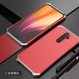 Image 5 - ケース Xiaomi Redmi 注 8 プロアルミニウム金属フレームハードプラスチックバックカバー Xiaomi Redmi 注 8 プロ fundas 完璧な感