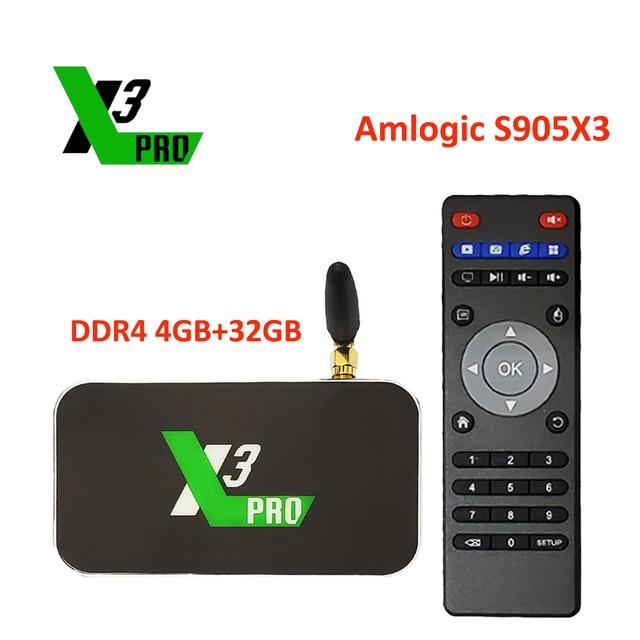 Ugoos X3cube Amlogic S905X3 Android Tv Box 4Gb DDR4 16Gb 32Gb Rom 2.4G 5G Wifi 1000M X3 Pro Lan 4K Hd Media Player