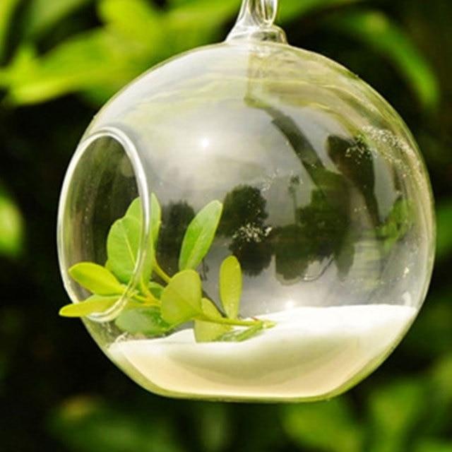 10pcs Clear Decor Ball Globe Shape Transparent Hanging Glass Vase Flower Plants Home Garden Shows 4