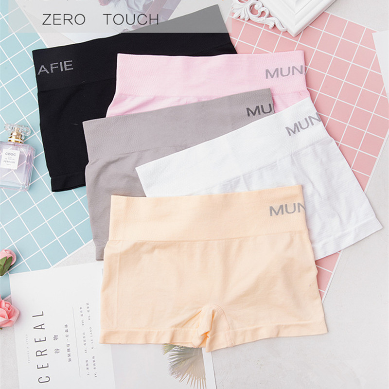 Hf57474ac812d4e0aaef9faf1f5fc209aI - Safety Pants For Women Seamless Body Shaping Casual Short Ladies Boxer Briefs Boyshorts Underwear Cotton Female Panties