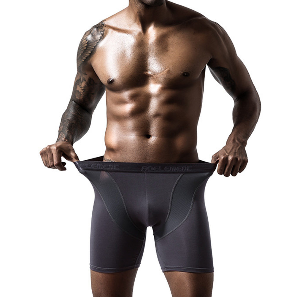 Men Quick Dry Elastic Training Fitness Trunks Compression Exercise Sports Shorts 4