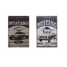 Clássico mustang ferro pintura estanho sinais placa de parede casa cafe bar casa decorativa placa de metal quarto do vintage