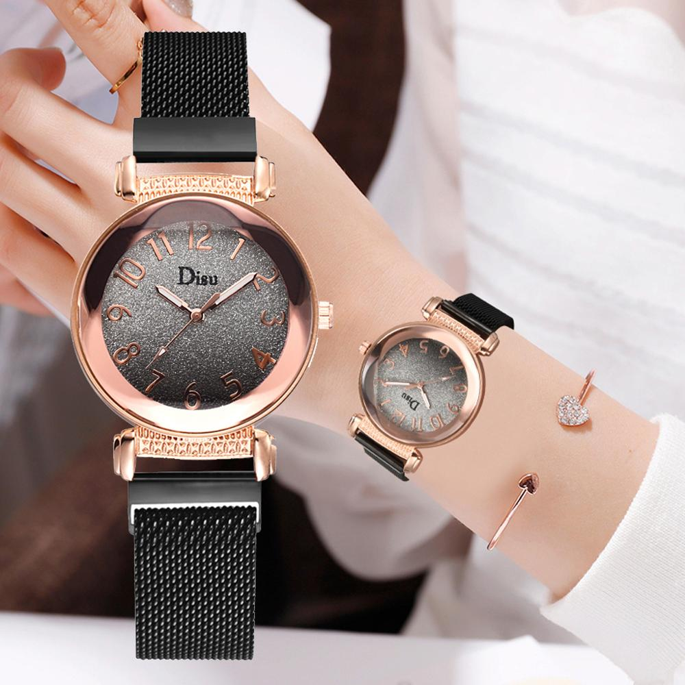 Reloj Mujer Women Watches Luxury Brand Bracelet Quartz Clock Fashion Dress Simple Waterproof Ladies Casual Business Watches