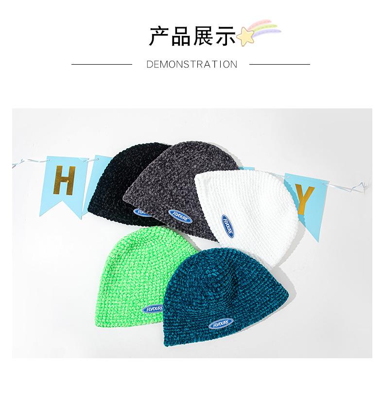 Корейская осенне зимняя сетчатая красная НОВАЯ шапка ручной
