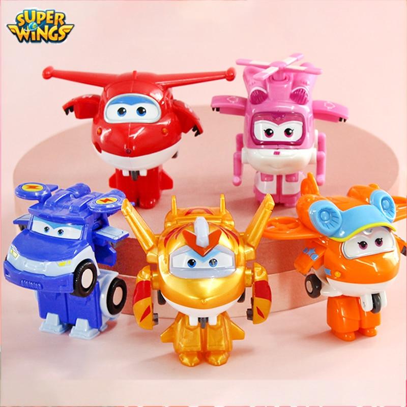 Мини-робот-трансформер «Супер Крылья», игрушка Джетт «головокружение Донни», экшн-фигурки, игрушки-трансформеры «Супер крыло» для детей, по...