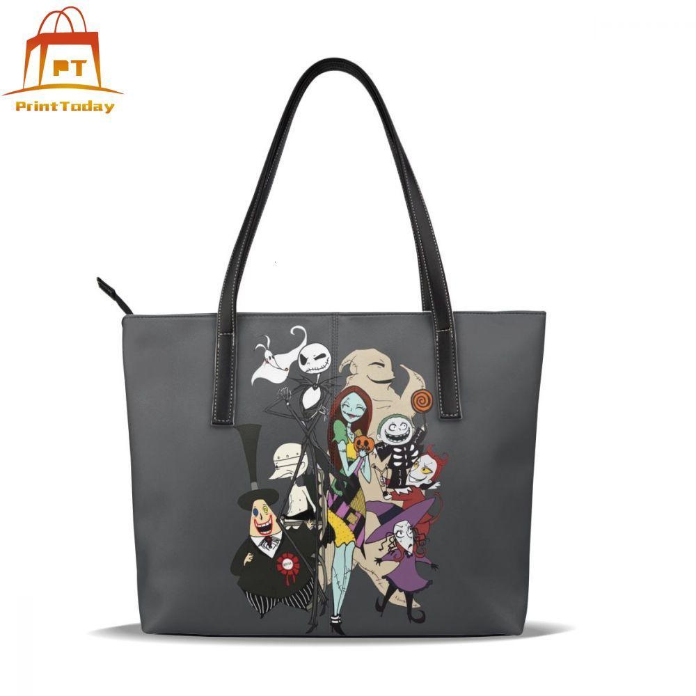 The Nightmare Before Christmas Handbag The Nightmare Before Christmas Top-handle Bags Trend Leather Tote Bag Women Handbags