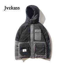 Jvzkass Womens 2019 Promotion version of the loose cotton bf hooded short coat neutral Harajuku Joker jacket tide Z336