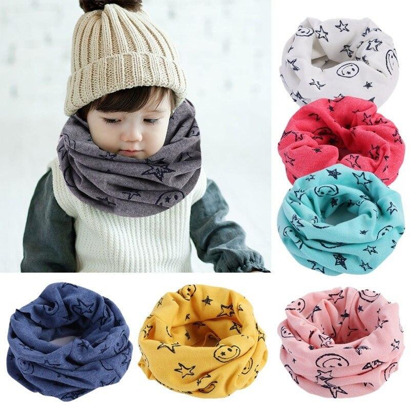 Children Warm Cotton Scarf Boy Girl Scarf Shawl Winter Neckerchief  Baby Winter  Scarf  Baby Winter Accessories