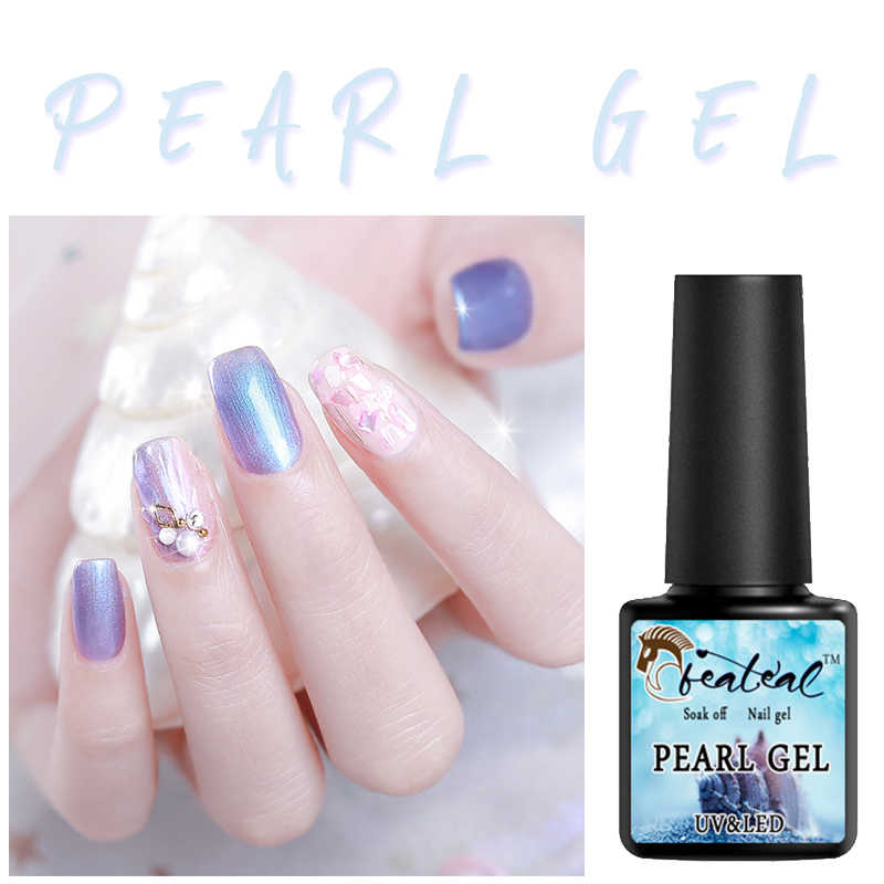 Beateal 7.5ML פגז ג 'ל פנינה פולנית UV ג' ל לק 12 צבעים היברידי לכה בת ים לכה מזל חצי Permanen אמייל