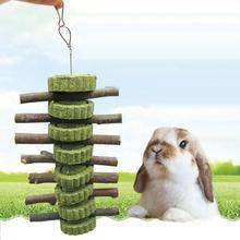 Игрушка для домашних животных Кролик Хомяк здоровье зубов яблоко Дерево Трава торт сердце жевательная игрушка для прорезывания зубов палка