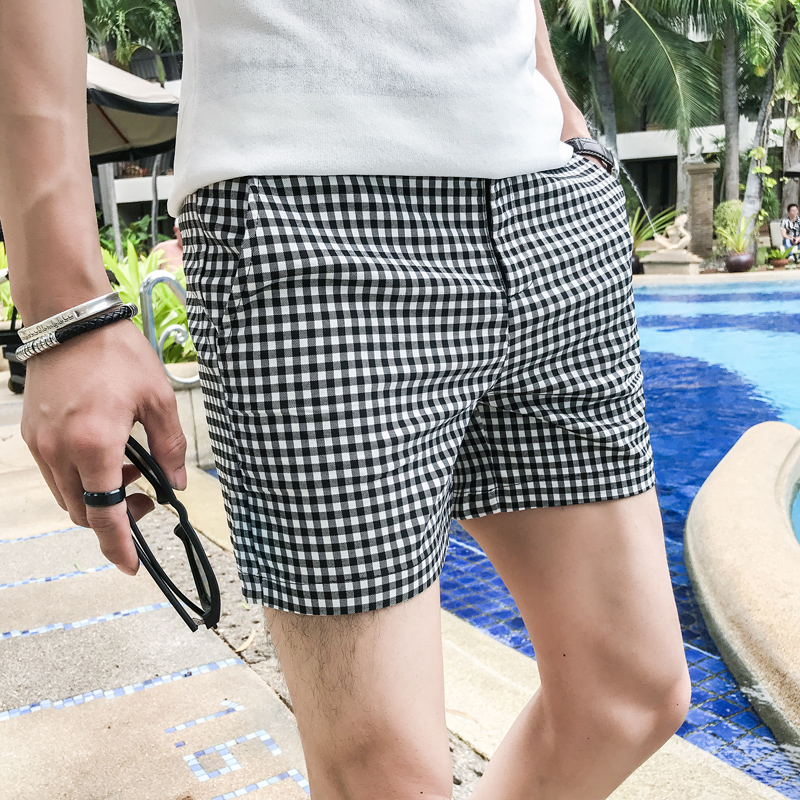 Casual Board Short Beach Plaid Shorts Men Summer Comfortable Beachwear Homme Fashion Boardshorts Breathable Male 2020 Summer
