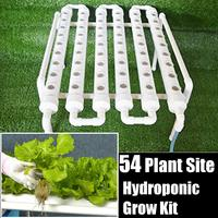 Kit de cultivo de tuberías hidropónicas de 54 agujeros, Caja de cultivo de agua profunda, sistema de jardinería, maceta de vivero, estante hidropónico de 220V