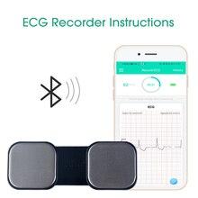 El EKG kalp monitörü için kablosuz kalp olmadan metal elektrotlar ev kullanımı EKG izleme ios Android 30S 10H kayıt