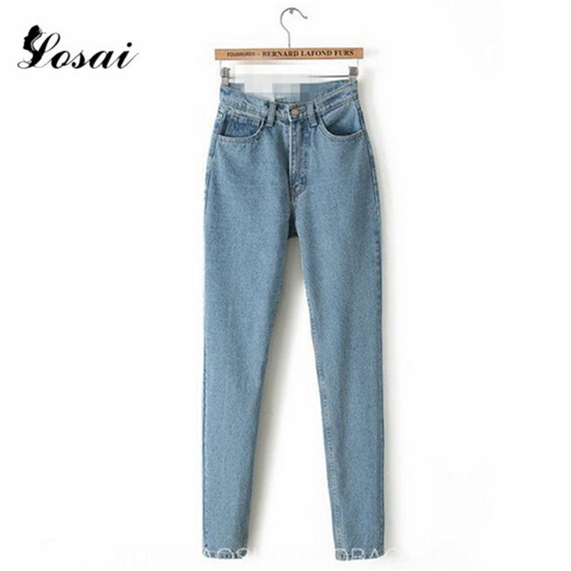 2019 Denim Jeans Women High Waiste Jeans Haren Pants Jeans Slim Pencil Pants Full Length Pants Loose Cowboy Pants Jeans Woman