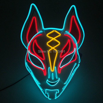 Music Concert Live Glow Party Supplies Led Neon Figure EL Mask Halloween Party Mask Mouth Clown Mask Model DIY Decoration image
