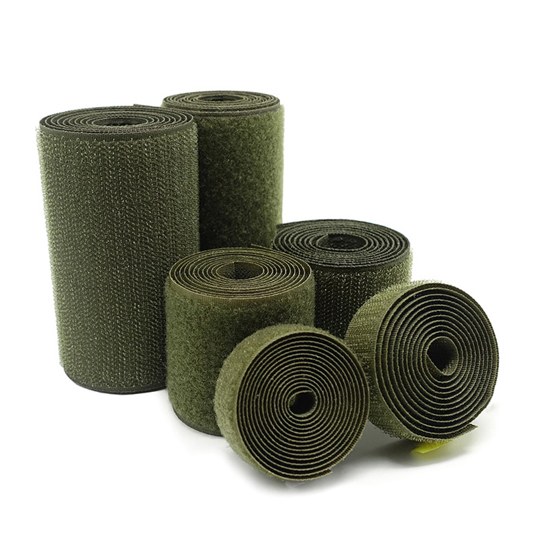 2m*3cm Olive Green Nylon Velcros Fastener Tape No Adhesive Sewing Magic Loop Hook Sticker Strip Clothing Stick Tape Velcroing