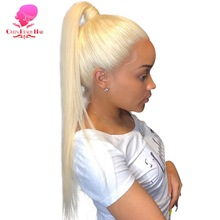 Full Lace Human Hair Wigs 8   28 Inch Long Brazilian Straight Remy 613 Blonde Ombre Color Glueless Full Lace Wigs with Baby Hair