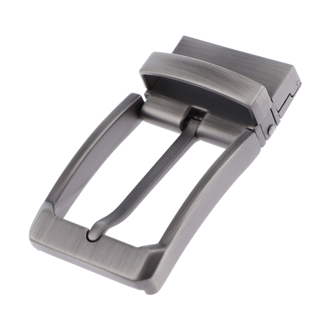 Polished Metal Belt Buckle Replacement Automatic Ratchet 35mm Belt Parts