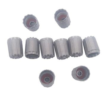 TPMS25306 10pcs Grey Car Tire Valve Stem Caps Auto Tire Tyre Wheel Cover For Nissan Infiniti image