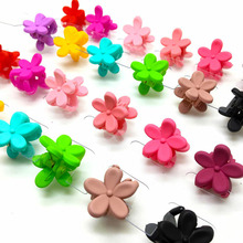 10PCS Candy Color Scrub Flower Hairpin DIY Child Cute Mickey Crown Shape Hair Accessories Girl Jewelry Headband 20mm