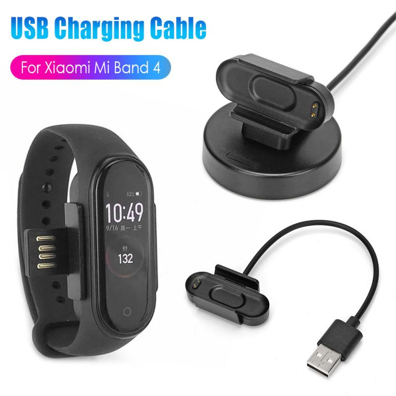 USB Date Charger Adapter For Xiaomi Mi Band 4 Charging Dock Stand No Disassembly USB Date Cable Watch Charger For Mi Band 4