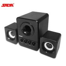 SADA D 203 комбинированный динамик USB проводной компьютерный динамик бас стерео музыкальный плеер сабвуфер звуковая коробка динамик для смартфона