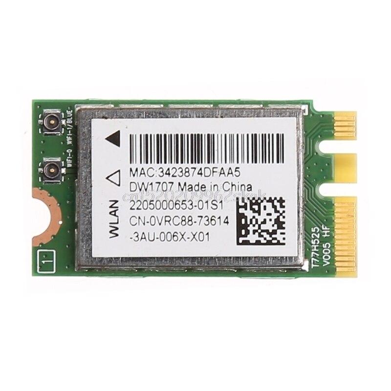 300M Wireless Bluetooth NGFF WIFI Card For Dell DW1707 VRC88 Qualcomm QCNFA335