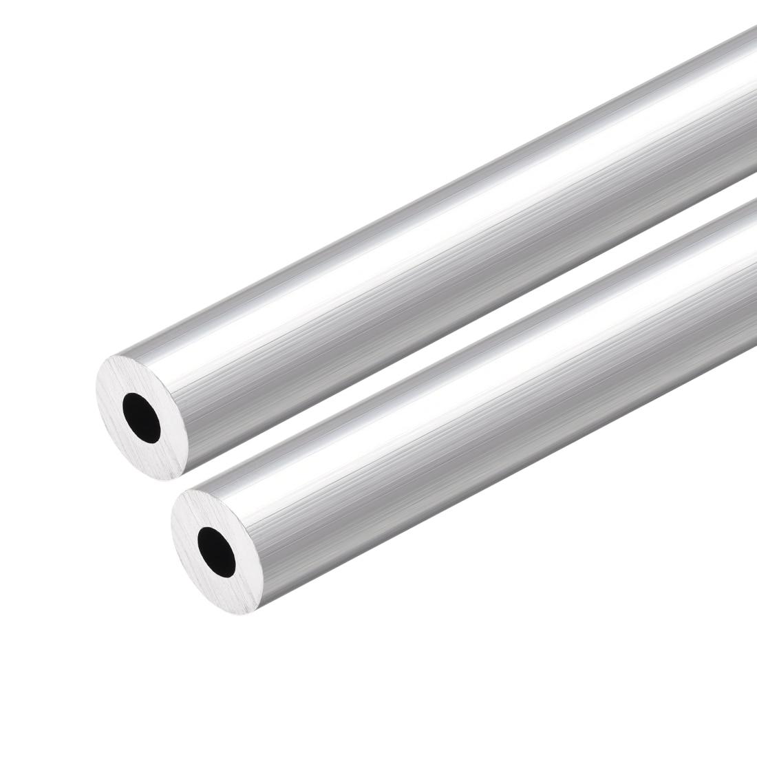 Uxcell 6063 Aluminum Round Tube 300mm Length 12mm OD 5mm Inner Dia Seamless Aluminum Straight Tubing 2 Pcs