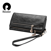 REALER brand new design women wallet long high quality femal