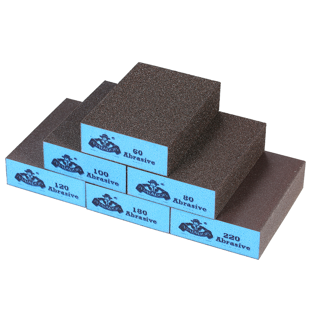 6 Different Specifications Sanding Blocks Portable Grit Sanding Sponge Washable Reusable For Repairing Stone Carving Industry